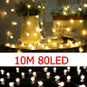 NEW 10M Battery Powered Edison Bulb String Lights Outdoor Fairy BBQ Party UK SMT