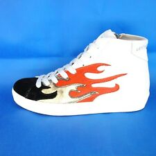 Leather Crown Ladies Shoes Sneaker Sports Size 37 White Fur Np 319 New