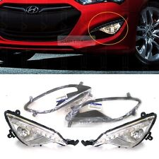 OEM Fog Light Lamp + Cover + Connect LH / RH for HYUNDAI 13 - 17 Genesis Coupe