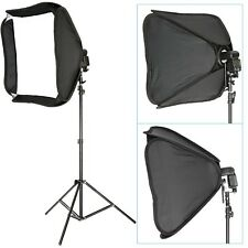 Professional Protable Off-Camera Flash Softbox & Stand Kit for Nikon Black