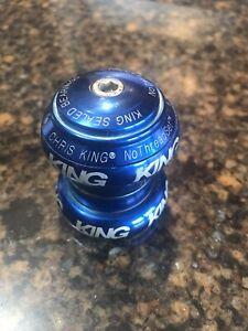 """Blue Chris King 1-1/8"""" NoThreadSet threadless external headset"""