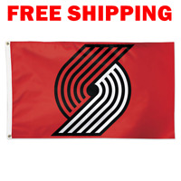 Deluxe Portland Trail Blazers Logo Flag 2018 NBA Basketball Fan Banner 3X5 ft