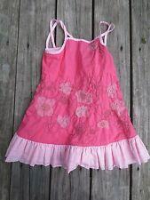 Deux par deux ~ Girls Pink Floral Summer Dress ~ Size 4