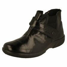 Ladies DB Wide Fitting Ankle Boots - Swindon