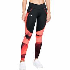 Under Armour UA HeatGear Speedpocket Ladies Black Printed Sports Running Tights