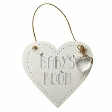 Poo Room - Shabby Chic White Rustic Wooden Heart Toilet Sign