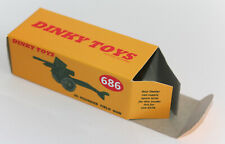 DINKY Reproduction Box 686 25-Pounder Field Gun Repro Military Army
