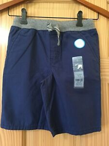 New Carter's Boy Navy Blue Pull-On Shorts 3T,4T,5T,8,10/12