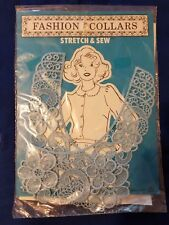 Stretch & Sew Lace Collar Light Blue for Sewn on Accent or Removeable Collar