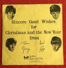 THE BEATLES -First Christmas Record- 1963 Fan Club Flexi disc /Newsletter / Rare