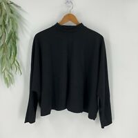 Zara Basic Womens Sweater Size Small S Black Knit Pullover Mock Neck Oversized