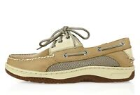 Sperry Top Sider Womens Tan Brown Leather Lace Up Casual Boat Shoes Size 7.5 M
