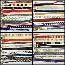 LOT OF 40 RETRO VINTAGE ASSORTED FASHION BELTS WHOLESALE COSTUME THEATER HIPSTER