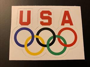 "Team USA Olympic Sticker - Tokyo 2020 2021 3.7"" x 2.7"" Olympic Rings Logo"