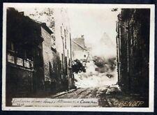 PHOTO ORIGINALE 14-18:EXPLOSION D'UNE BOMBE ALLEMANDE A CAMBRAI