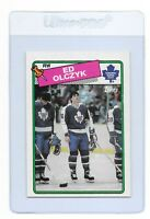 ED OLCZYK 1988 TOPPS Toronto MAPLE LEAFS  NHL Hockey Trading CARD #125 Blackhawk