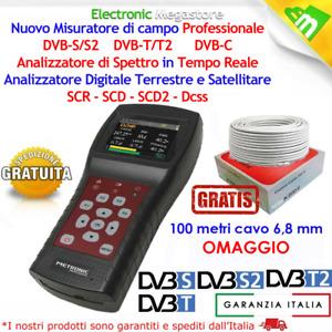MISURATORE DI CAMPO TV/SAT CON ANALIZZATORE DI SPETTRO IN TEMPO REALE 414951