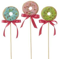 NEW RAZ Imports DONUT BOUQUET Set Of 3 15.75""