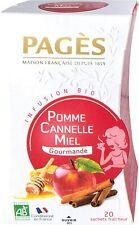Pagès Infusion Pomme Cannelle Miel Bio 20 sachets