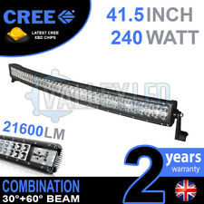 "42 INCH 42"" CURVED COMBO 240W CREE LED LIGHT BAR DEFENDER NEVARA JEEP L200 HILUX"