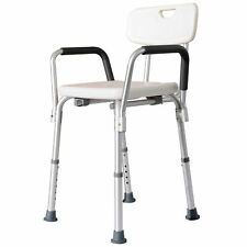 Adjustable Medical Shower Chair Quick Release Bathtub w/Arm Backrest WT