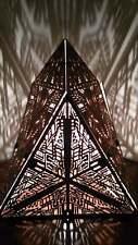 Chestahedron | Geometric Lighting, Wood Desk Lamp, Burning Man Shadow Lights