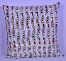 """24"""" ETHNIC INDIAN CUSHION COVERS KANTHA Work Pillow Home Decor Cover Hippie Boho"""