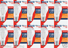 10 X100 Watt GLS Clear Dimmable Light Bulbs BC Bayonet Cap B22 Lighting
