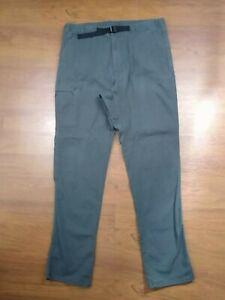 Patagonia Women's Pants Gray Size Large Organic Cotton Elastic Waist Outdoor