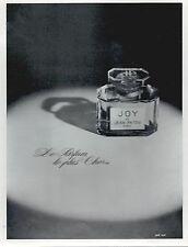 ▬► PUBLICITE ADVERTISING AD PARFUM PERFUME Joy Jean Patou 1968