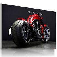 HARLEY DAVIDSON RED MOTOR BIKE Wall Canvas Picture ART  HD76  MATAGA