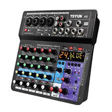 Professional DJ Audio Mixer 6-Channel Compatible DJ Controller Sound Mixer