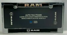 RAM HEAVY DUTY Black Chrome Metal License Plate Frame RAM Truck  NEW
