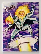 2017 FLEER ULTRA SPIDER-MAN BASE CARD #58 JACK O'LANTERN