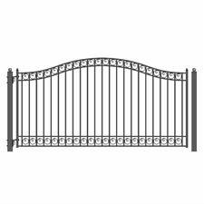 ALEKO Dublin Style Ornamental Iron Wrought Single Swing 14' Driveway Gate