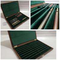 Cofanetto in legno per Penne da collezione velluto Expositor para Bolígrafos