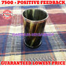 Horn Cup For Drinking Steel Rim Viking Norse Medieval Reenactment Feast Cow