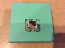 Tiffany & Co RARE Sterling Silver ERA Love Ring Size 6 Stencil Letters Cut Out