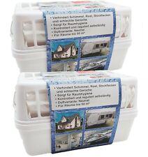 2x Raum Luftentfeuchter Box 4x1200g Granulat Feuchtigkeitskiller Entfeuchter