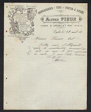 """ORGELET (39) QUINCAILLERIE & OUTILLAGE """"Alfred FIEUX"""" en 1908"""