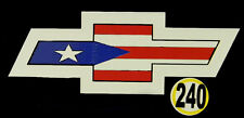 PUERTO RICO CAR DECAL STICKER CHEVROLET  with PUERTO RICAN FLAG #240