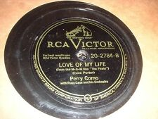 78RPM 2 Victor by Perry Como, If U Were My Girl, I Cross My Fingers, Love Lif wV