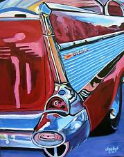 Vintage 57 Chevy CAR Original Art PAINTING DAN BYL Modern Contemporary Huge 5ft