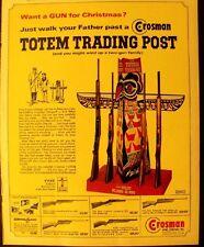 1964 Crosman Arms Co. BB Gun~Totem Trading Post Carbine Co2 Rifle Trade Print Ad