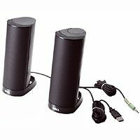 Dell AX210 Computer Stereo Speakers USB Powered Black Two (2) New, Sealed