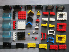 LEGO CAR PARTS 3 X Chassis Wheels seats windscreen steering Wheel and Gear lever