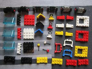 LEGO CAR PARTS 3 X Chassis Wheels seats windscreen steering Wheel & Gear lever