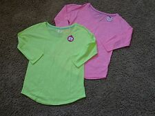 SO brand women's NWT sz S (2) 3/4 sleeve drop shoulder shirt pink & yellow