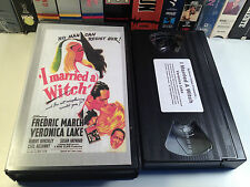 I Married A Witch Rare Comedy Fantasy VHS 1942 OOP HTF Veronica Lake F. March