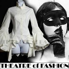 ALL SAINTS SHIRT XS S DRESS VINTAGE VICTORIAN BUSTLE KATERINA MASQUERADE POET